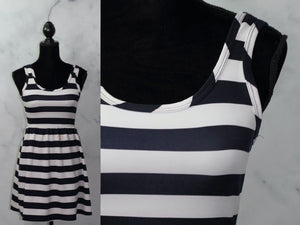 Dina Be Blue & White Stripe Sheath Dress (S)
