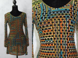 Adore Multi Color Knit Sheath Dress (M)