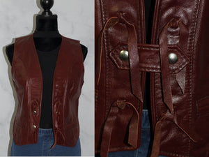 Lariat Leather Brand Leather Western Vest (10)