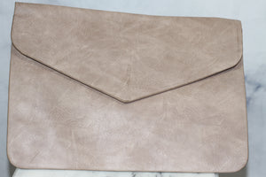 Grey Envelope Clutch Handbag