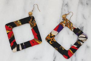 Square Cloth Earrings