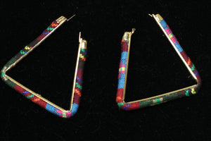Multi Color Triangular Earrings