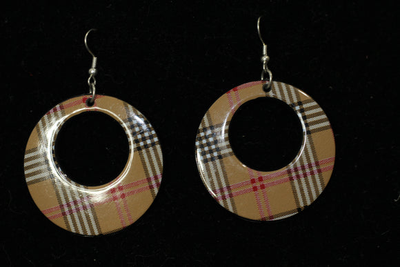 Plaid Dangle Earrings