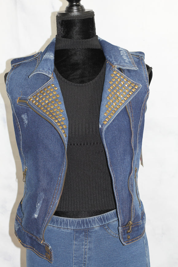 Dolled Up Denim Reversible Vest
