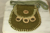 Handmade Green Shoulder Bag