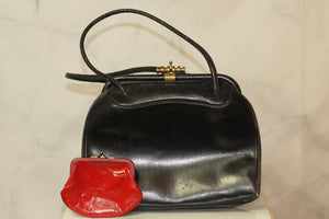 Leather Black Satchel Handbag
