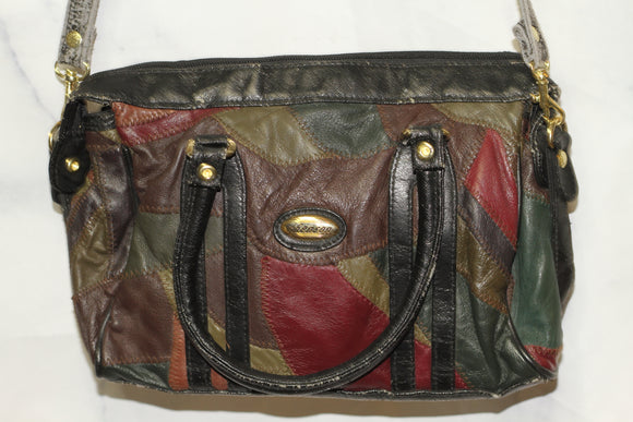 Henson Leather Multi Color Duffle Handbag