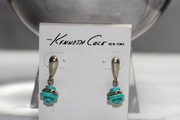 Kenneth Cole Turquoise Dangling  Earrings