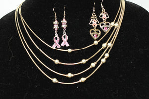 Breast Cancer Awareness Jewelry Set