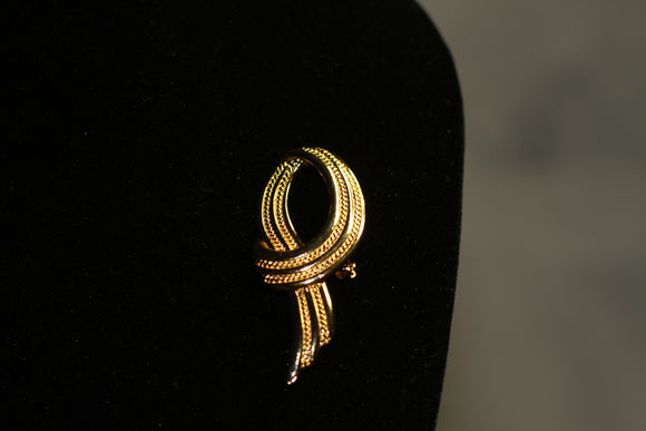 Gold Scarf Brooch