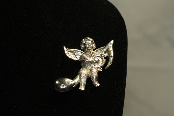 Musical Angel Brooch