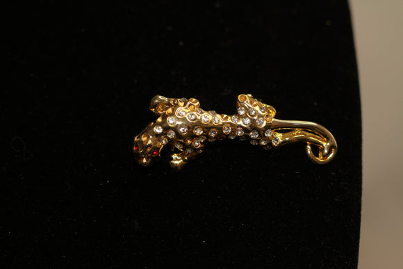 Leopard Gold Brooch