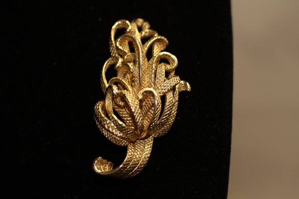 Castlecliff Monogram Gold Brooch