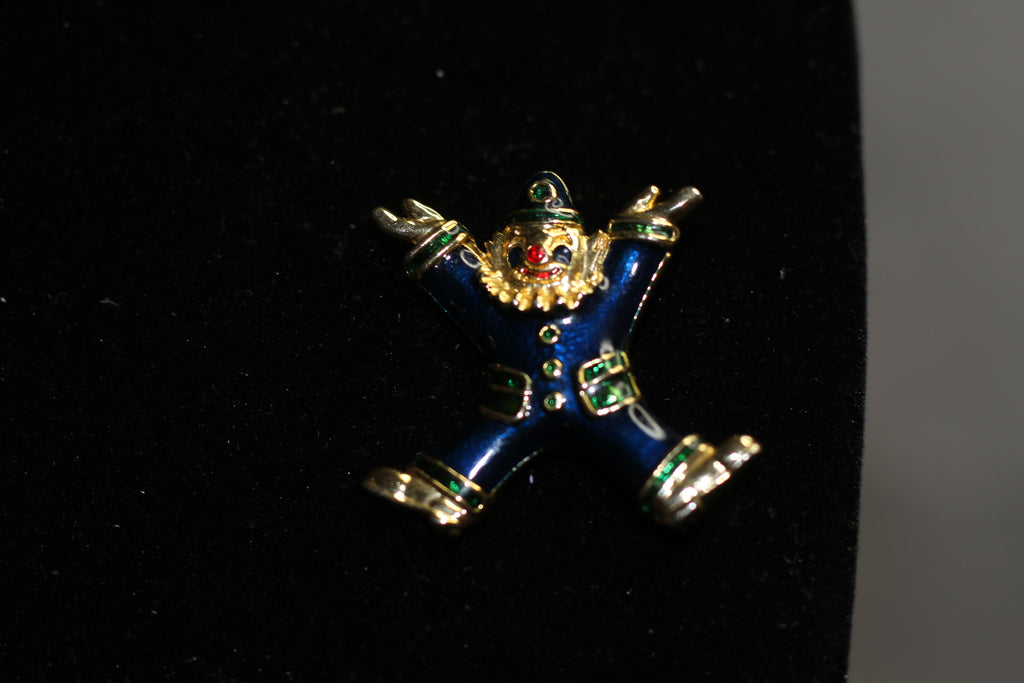 Gold Clown Brooch