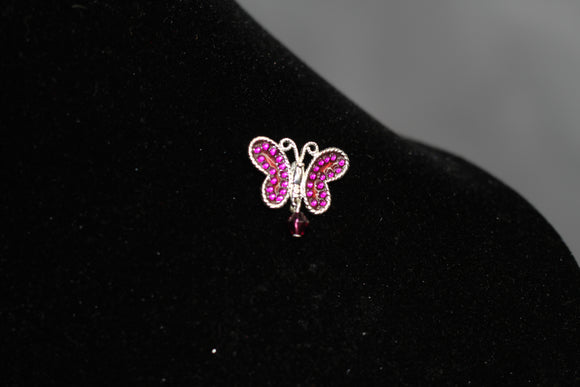 Purple Butterfly Brooch
