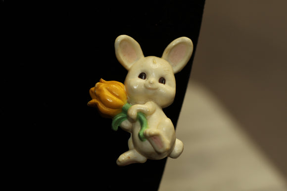Easter Bunny - Rabbit Brooch