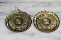 Gold Plated Shield Earrings