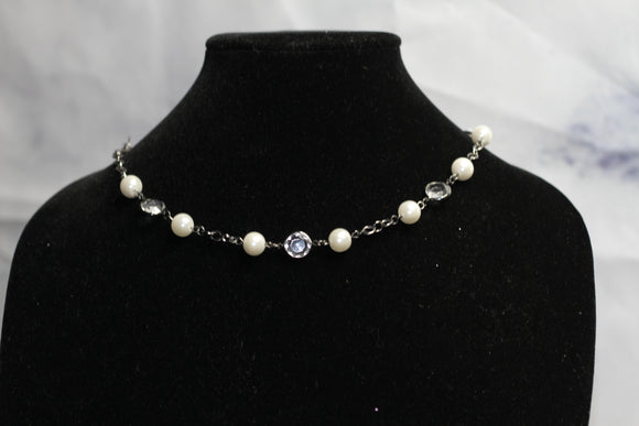 Clear Pearl Necklace