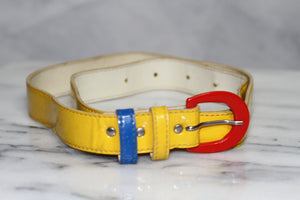 Multi Color Leather Belt