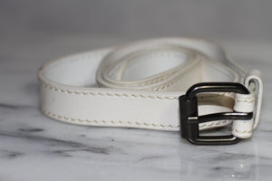 Genuine Leather White Belt