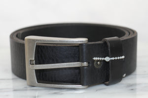 Levi Black Leather Belt