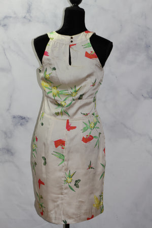 Handmade Floral Butterfly A - Line Dress (8)