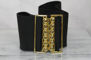 Black & Gold Stretch Belt Belt