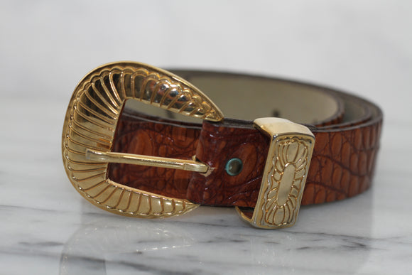 Genuine Leather Brown Belt