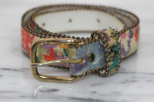 Floral Multi Color Belt (M)