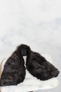 Black Vegan Fur Shawl