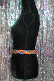 Multi Color Belt with Silver Buckle