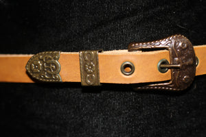 Tan Genuine Leather Belt (33) *Excellent Condition