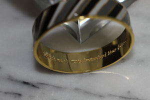 Liz Claiborne Gold & Black Bangle