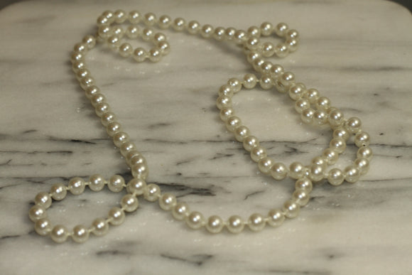 Faux White Beaded Pearls