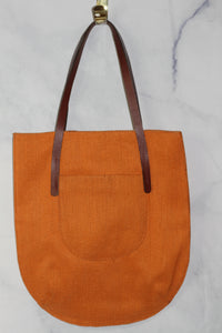 Dark Orange Large Hobo Handbags