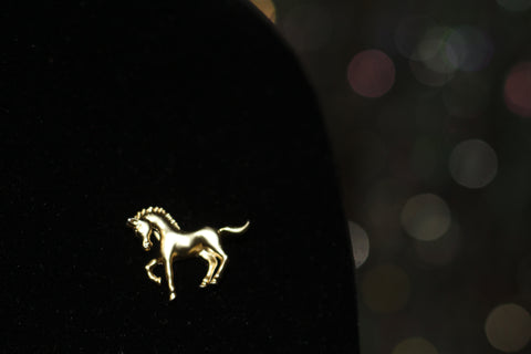 Gold Horse Brooch Pendant. Free Shipping.