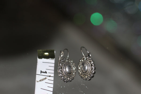 1960's Sterling Silver  Lever back Earrings