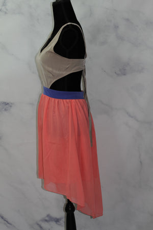 Salemia Multi Color Silk Halter Dress (S)