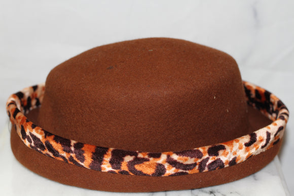 Leopard Wool Bucket Hat