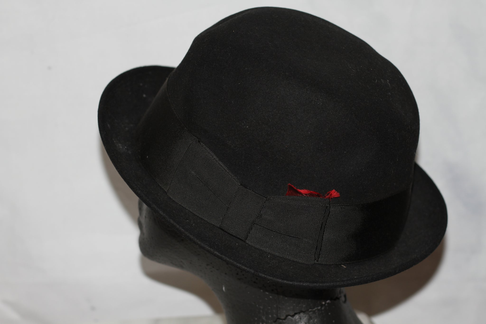 Dobb's Black Wool Feathered Fedora Hat