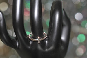 Silver Cross Ring Size: 6