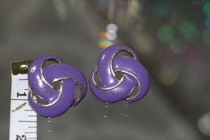 90's Purple Swirl Earrings