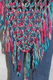 L Pogee Worldwide Hand Woven Multi Color Shawl Puncho (One Size)
