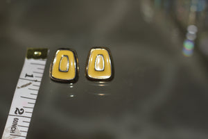 90's Yellow Square Earrings