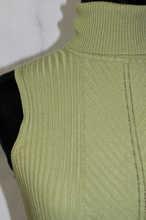 Cotton Green Turtle Neck (S)