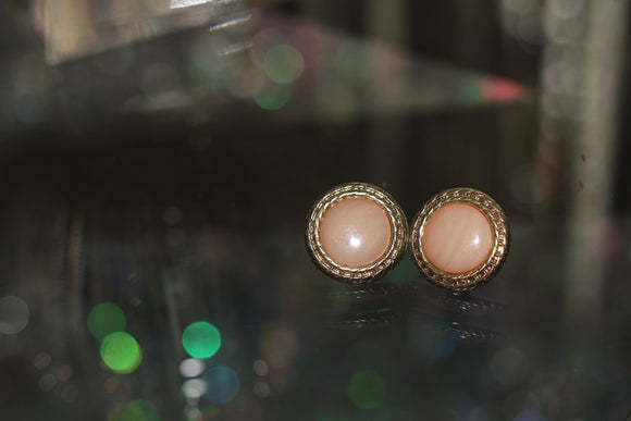 Pink Round Earrings