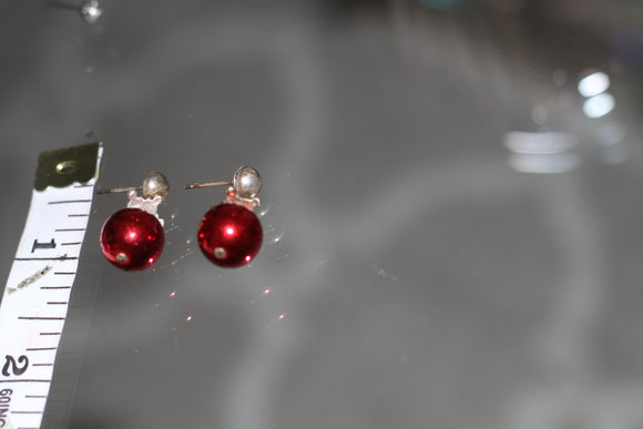 Candy Red Dangle Earrings
