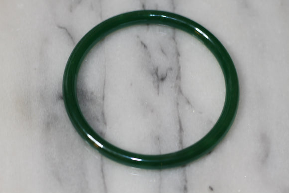 Dark Green Glass Bracelet