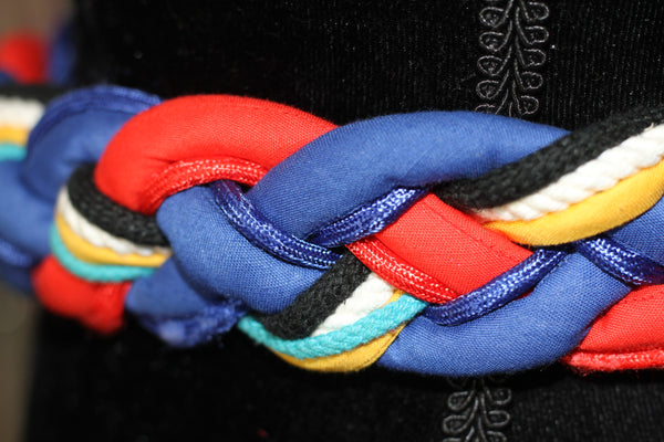 90's Multi Color Hand Woven Belt *Excellent Condition