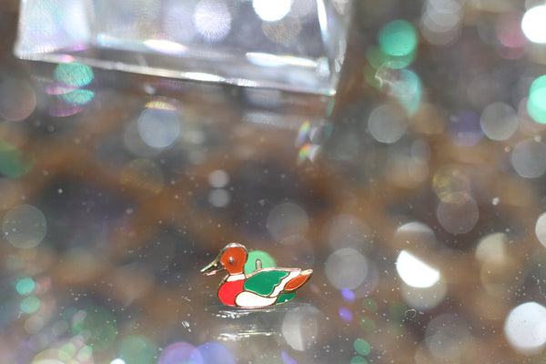 90's Multi-Color Duck Pin Brooch